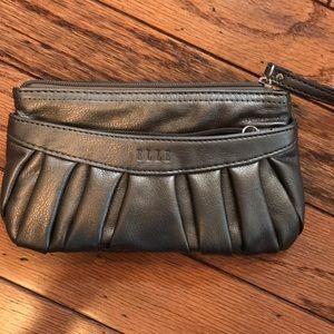 ELLE dark gray clutch purse